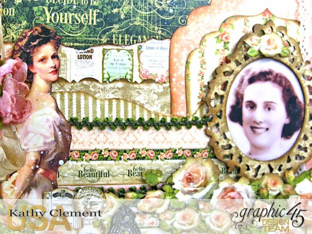 Elegant Lady Layout by Kathy Clement with Graphic 45 Portrait of a Lady Photo 3