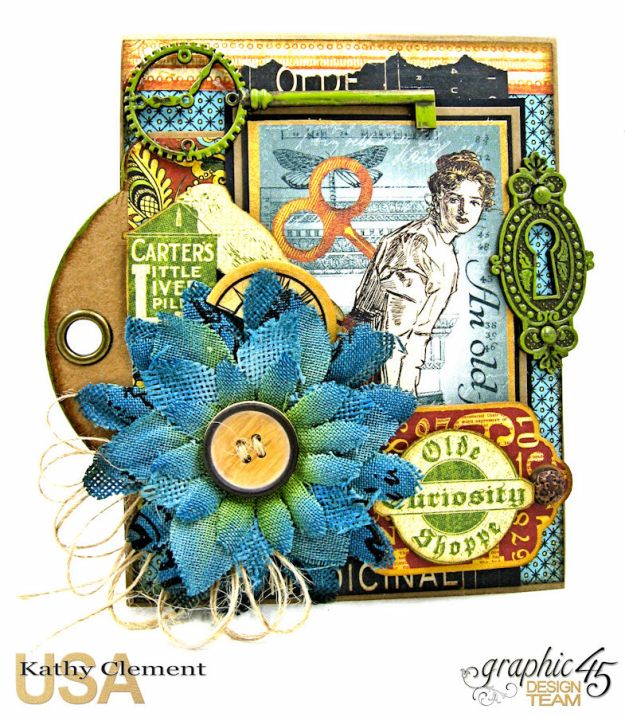 Olde Curiosity Shoppe Pop Up Get Well Card Old Curiosity Shoppe by Kathy Clement Product by Graphic 45 Photo 4