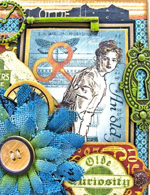 Olde Curiosity Shoppe Pop Up Get Well Card Old Curiosity Shoppe by Kathy Clement Product by Graphic 45 Photo 2