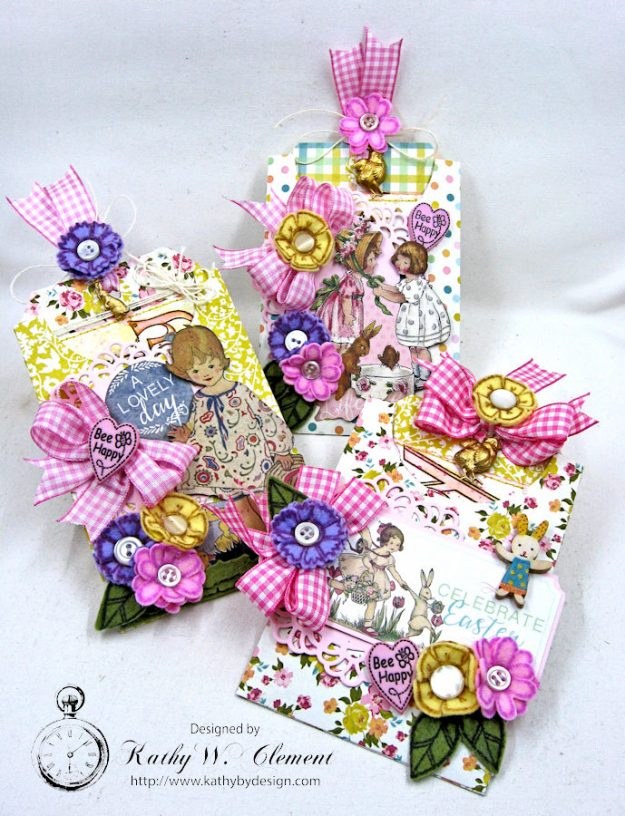 Happy Little Easter Tag Pockets by Kathy Clement for Tammy Tutterow Designs Photo 1