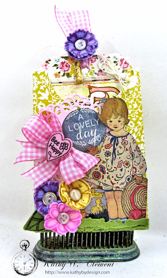 Happy Little Easter Tag Pockets by Kathy Clement for Tammy Tutterow Designs Photo 8