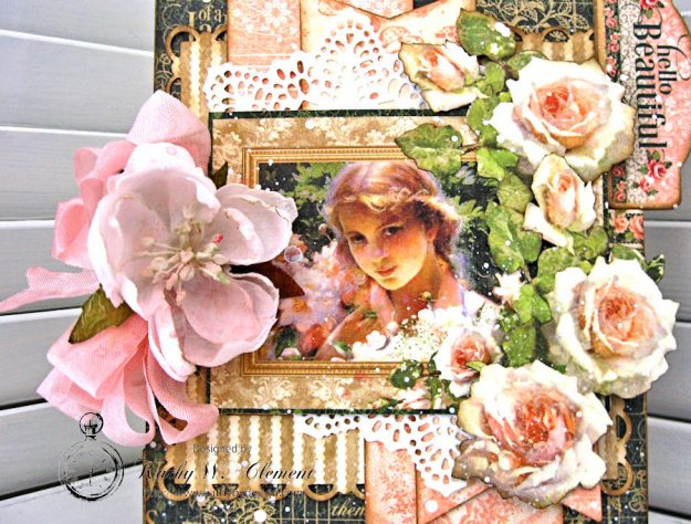 Hello Beautiful Card made with Portrait of a Lady by Kathy Clement made for The Funkie Junkie Boutique Friday Focus on Graphic 45