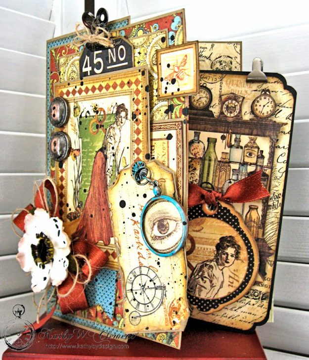 Olde Curiosity Shoppe Get Well Card with Inserts by Kathy Clement made for The Funkie Junkie Boutique Friday Focus on Graphic 45