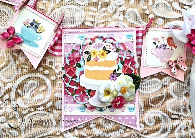 Tealightful tea party banner by Kathy Clement for Petaloo International Photo 6