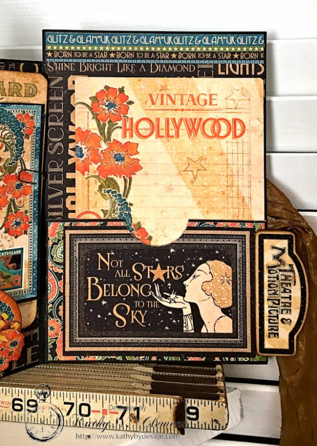 Graphic 45 Vintage Hollywood Four Fold Folio Tutorial by Kathy Clement for Frilly and Funkie Photo 14