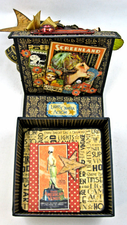 Born to Be a Star Photo Display Box Vintage Hollywood by Kathy Clement Product by Graphic 45 Photo 15