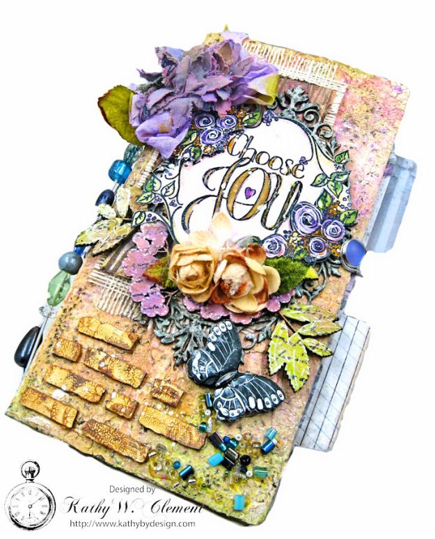 Choose Joy HeARTfelt Journal by Kathy Clement for the Put on Your Inking Cap Challenge at Frilly &  Funkie Photo 1