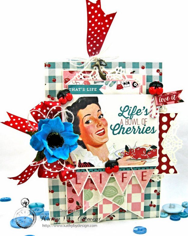 Life is a Bowl Full of Cherries Mother's Day Card Fabulous by Kathy Clement Product by Authentique Photo 1