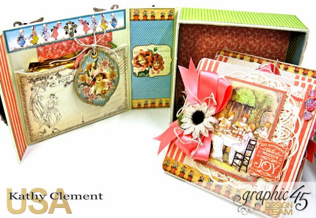 Tea Time Note Cards Tutorial A Place in Time Cafe Parisian by Kathy Clement Product by Graphic 45 Photo 4