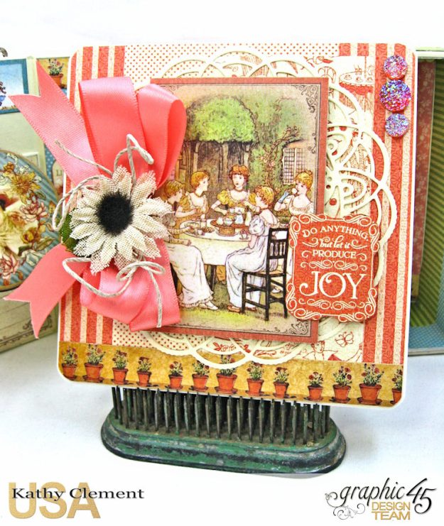 Tea Time Note Cards Tutorial A Place in Time Cafe Parisian by Kathy Clement Product by Graphic 45 Photo 7