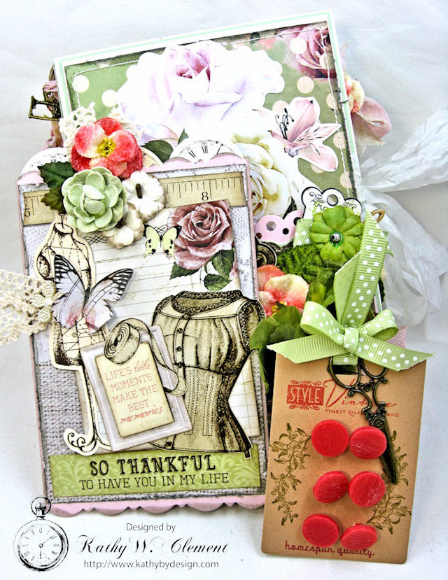 Sew Much Love Folio Mademoiselle by Kathy Clement Product by Petaloo and Kaisercraft Photo 4