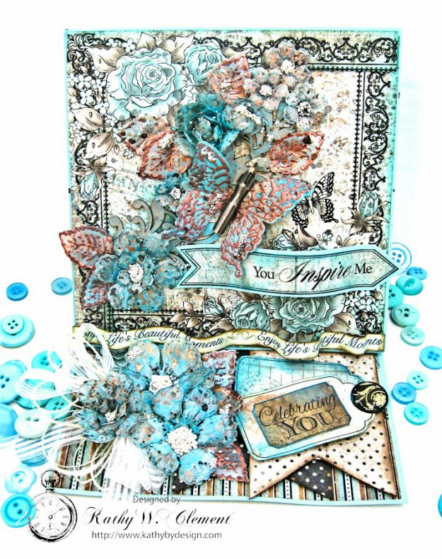 You Inspire Me Easel Card Tutorial Everyday Heroes by Kathy Clement Product by Heartfelt Creations Photo 1