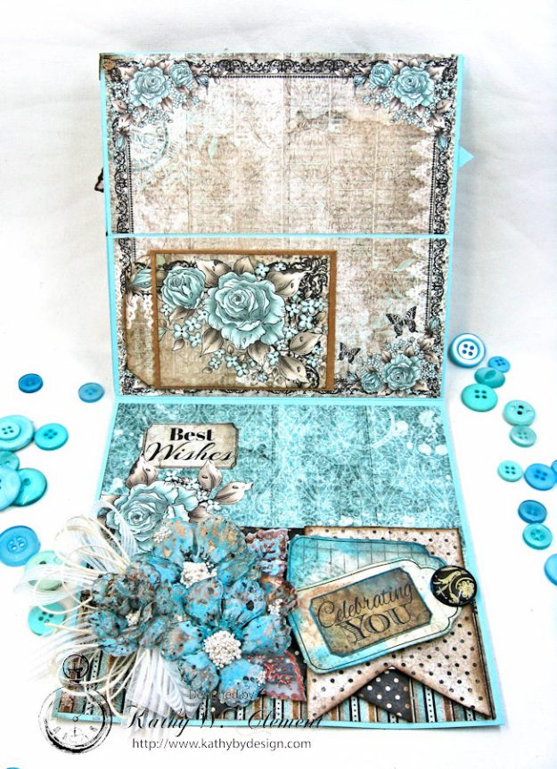 You Inspire Me Easel Card Tutorial Everyday Heroes by Kathy Clement Product by Heartfelt Creations Photo 2