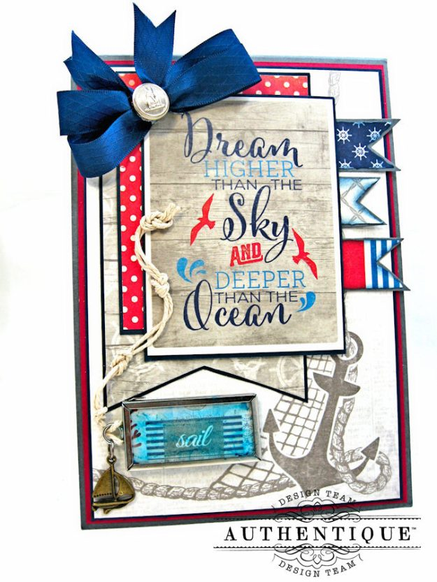 Have Courage, Set Sail & Dream High Nautical Themed Graduation Cards ...