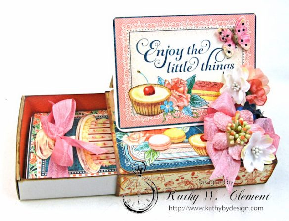 Enjoy the Little Things in Life Gift Card Holder Cafe Parisian by Kathy Clement for Really Reasonable Ribbon Product by Graphic 45 Photo 5