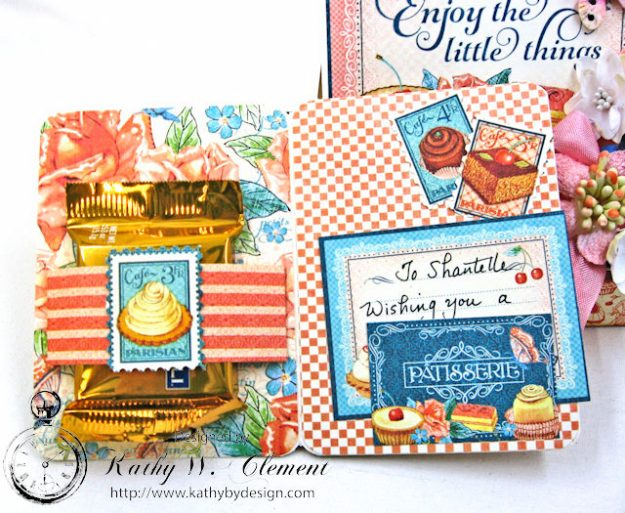Enjoy the Little Things in Life Gift Card Holder Cafe Parisian by Kathy Clement for Really Reasonable Ribbon Product by Graphic 45 Photo 7