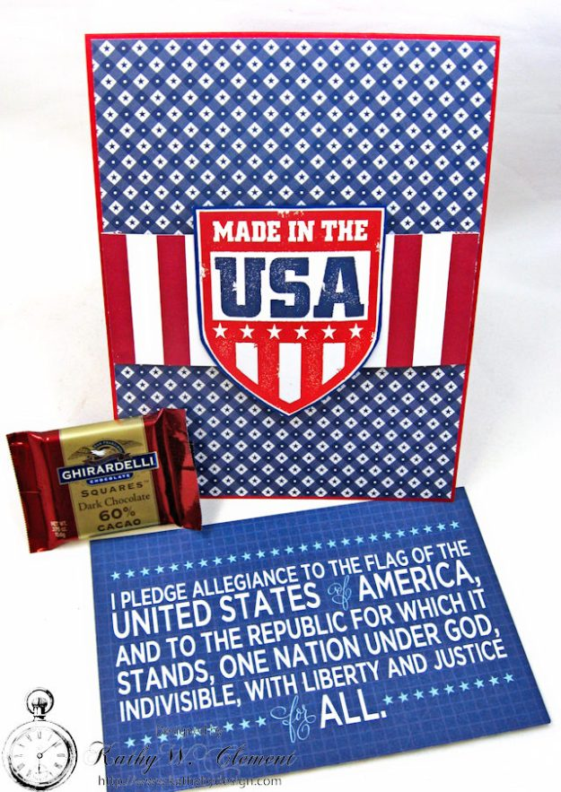 God Bless America Card United by Kathy Clement for Really Reasonable Ribbon Product by Authentique Photo 5