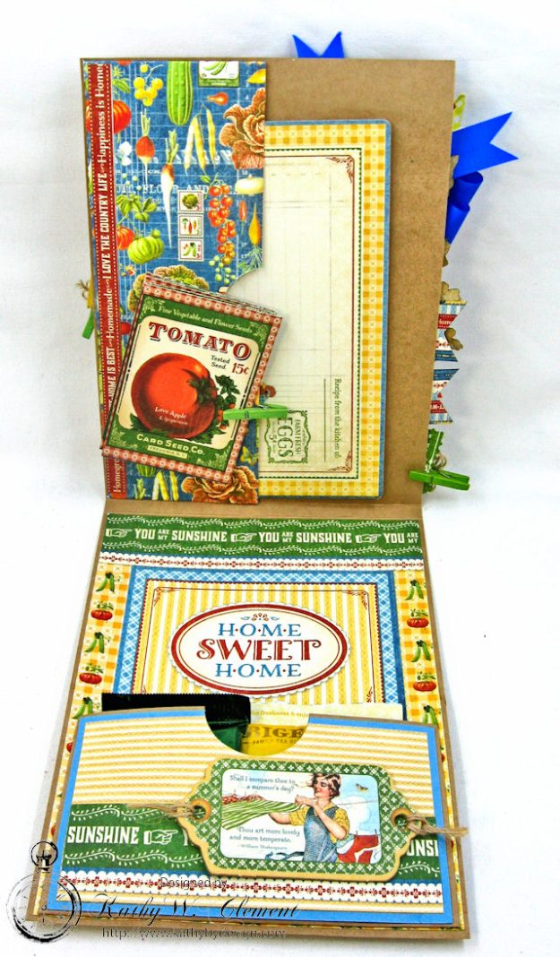 Laundry Day Card Home Sweet Home by Kathy Clement for Really Reasonable Ribbon Product by Graphic 45 Photo 6
