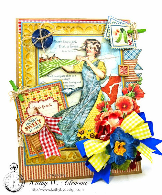 Laundry Day Card Home Sweet Home by Kathy Clement for Really Reasonable Ribbon Product by Graphic 45 Photo 1