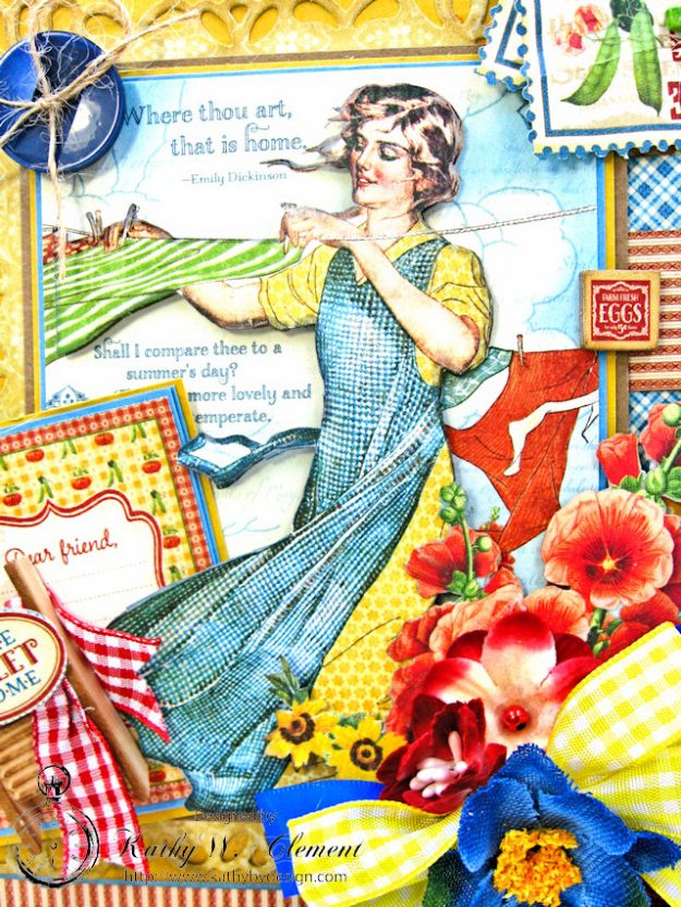 Laundry Day Card Home Sweet Home by Kathy Clement for Really Reasonable Ribbon Product by Graphic 45 Photo 3