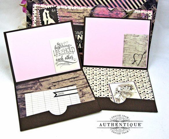 Bride and Groom Envelope Folio Always by Kathy Clement Product by Authentique Photo 5