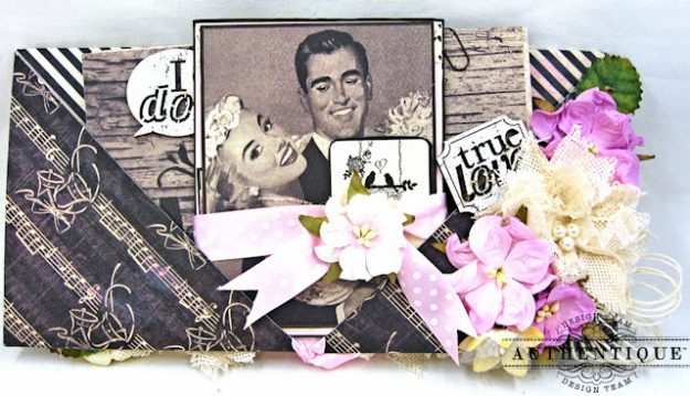 Bride and Groom Envelope Folio Always by Kathy Clement Product by Authentique Photo 6