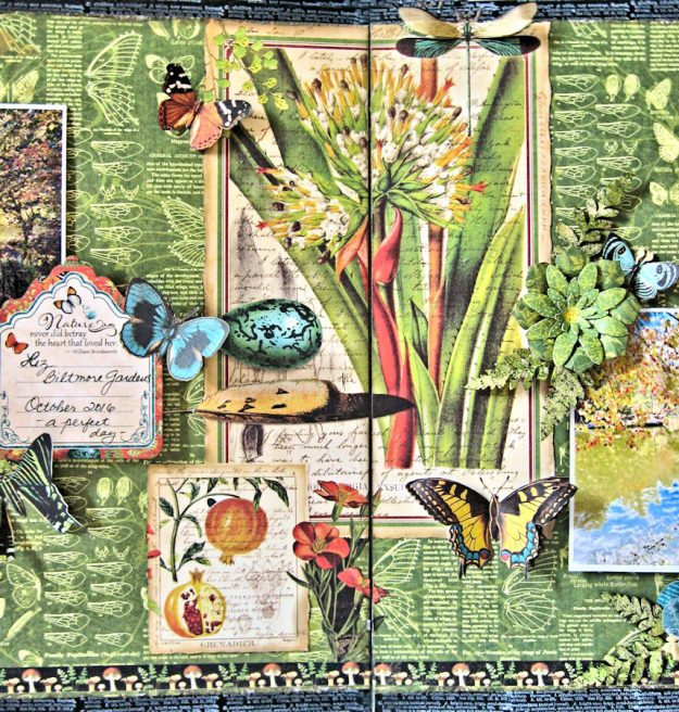 Natural Beauty Double Layout Nature Sketchbook by Kathy Clement Product by Graphic 45 Photo 6