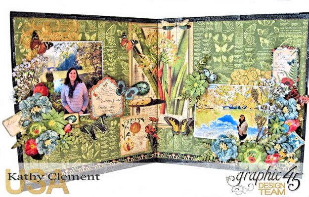 Natural Beauty Double Layout Nature Sketchbook by Kathy Clement Product by Graphic 45 Photo 5