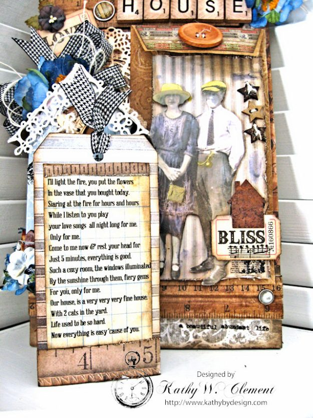 Our House Tim Holtz Etcetera Tag by Kathy Clement for Frilly and Funkie Sound of Music Challenge Photo 8