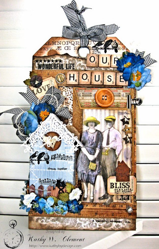 Our House Tim Holtz Etcetera Tag by Kathy Clement for Frilly and Funkie Sound of Music Challenge Photo 1