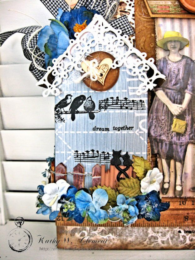 Our House Tim Holtz Etcetera Tag by Kathy Clement for Frilly and Funkie Sound of Music Challenge Photo 4