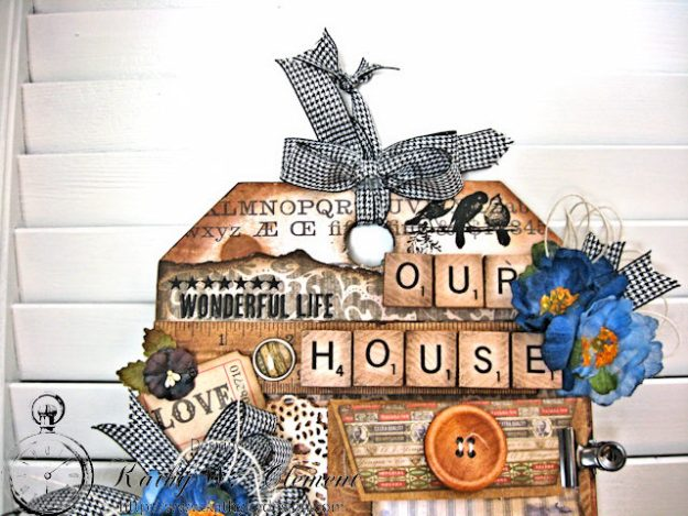 Our House Tim Holtz Etcetera Tag by Kathy Clement for Frilly and Funkie Sound of Music Challenge Photo 9