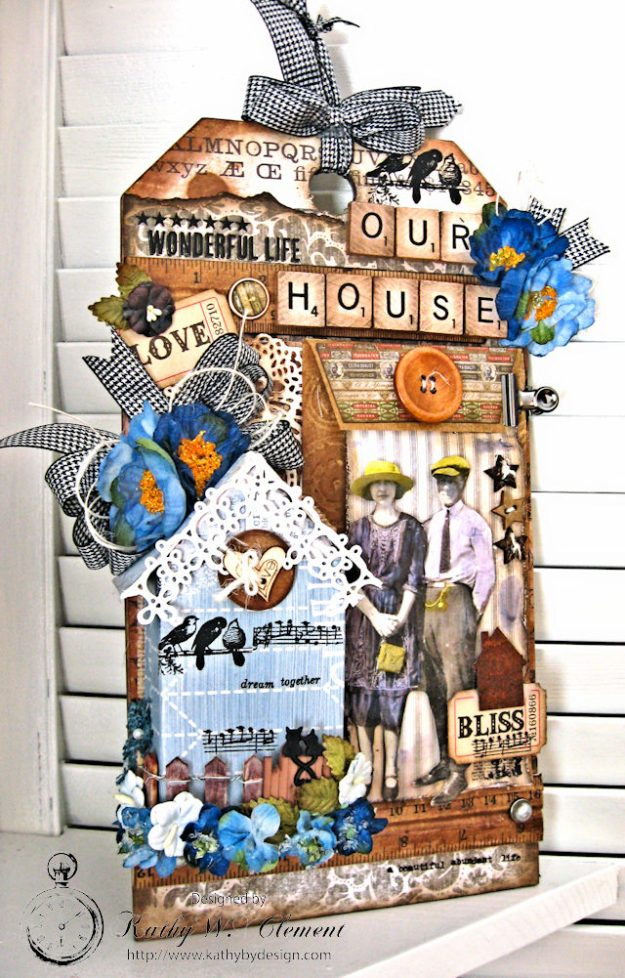Our House Tim Holtz Etcetera Tag by Kathy Clement for Frilly and Funkie Sound of Music Challenge Photo 10