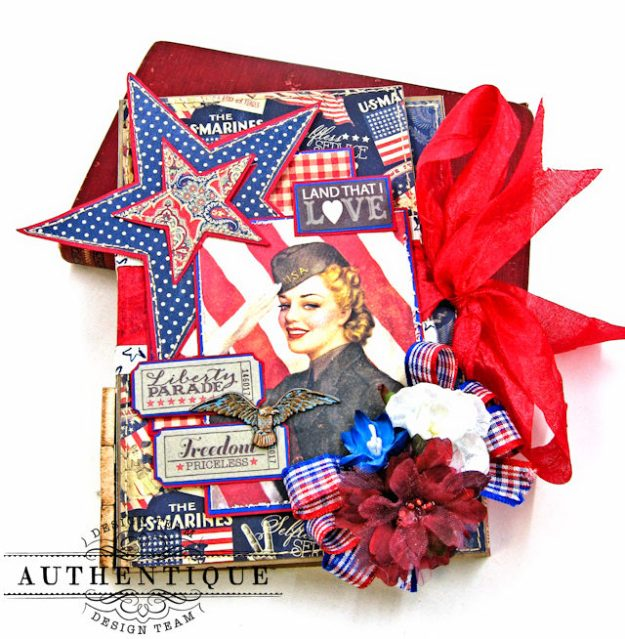 Authentique Heroic Patriotic Folio Heroic by Kathy Clement Product by Authentique Photo 15