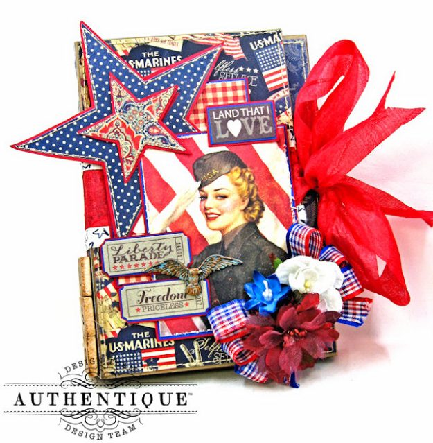 Authentique Heroic Patriotic Folio Heroic by Kathy Clement Product by Authentique Photo 1