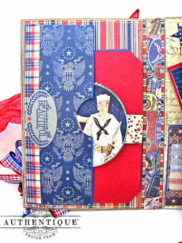 Authentique Heroic Patriotic Folio Heroic by Kathy Clement Product by Authentique Photo 5