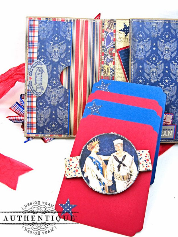 Authentique Heroic Patriotic Folio Heroic by Kathy Clement Product by Authentique Photo 6