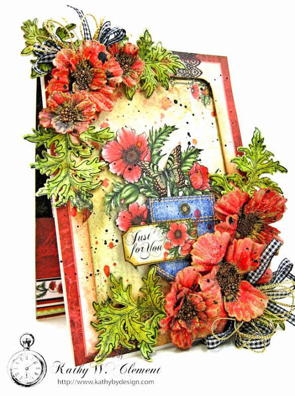 Pocket Full of Poppies All Occasion Card Blazing Poppies by Kathy Clement Product by Heartfelt Creations Photo 3
