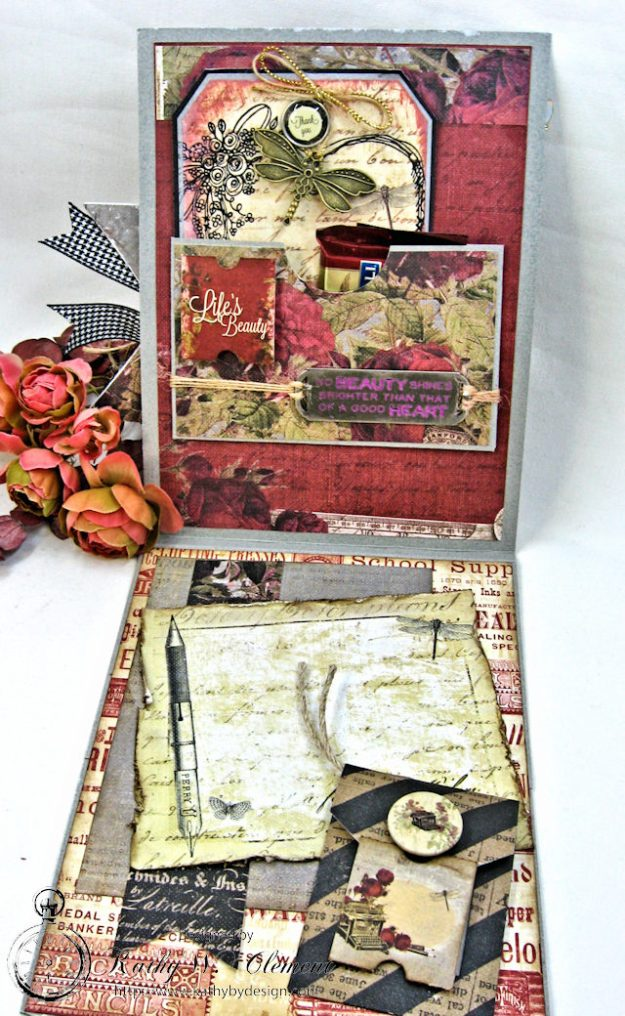 Shabby Posies Thank You Card Tutorial by Kathy Clement for Tammy Tutterow Designs Photo 4