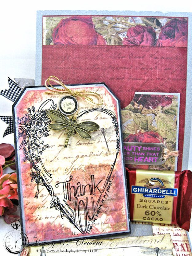 Shabby Posies Thank You Card Tutorial by Kathy Clement for Tammy Tutterow Designs Photo 6