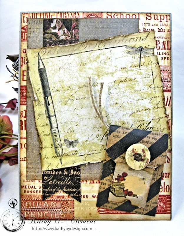 Shabby Posies Thank You Card Tutorial by Kathy Clement for Tammy Tutterow Designs Photo 8