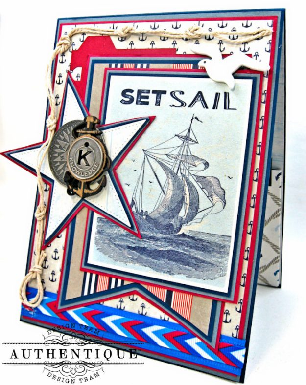 Nautical Themed Graduation Cards Seafarer by Kathy Clement Product by Authentique Photo 5