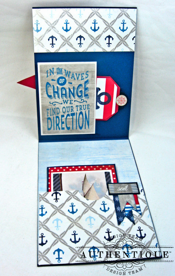 Nautical Themed Graduation Cards Seafarer by Kathy Clement Product by Authentique Photo 8