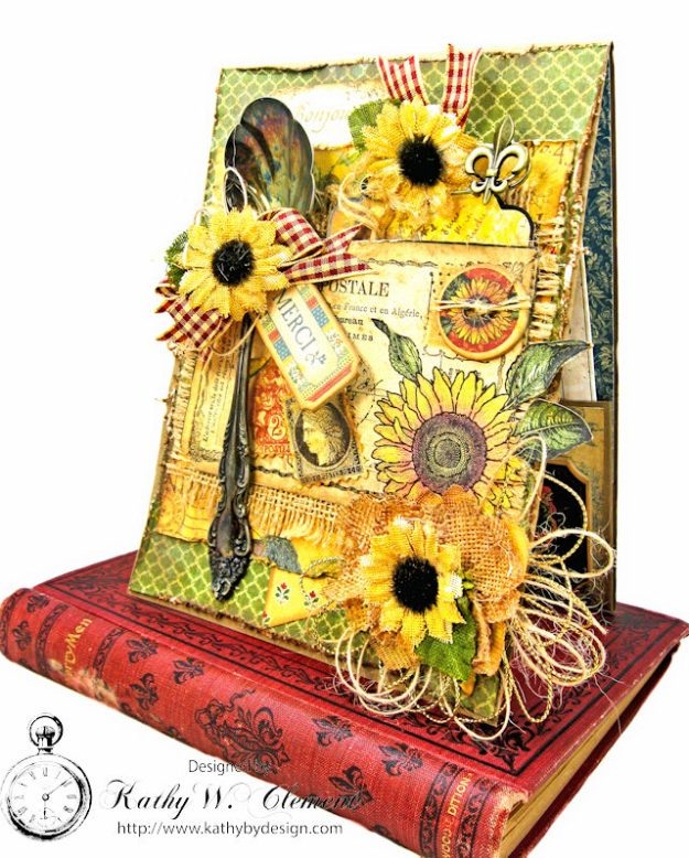 Spoonful of Gratitude Card French Country by Kathy Clement for Frilly and Funkie Something Old Challenge Product by Graphic 45 Photo 1