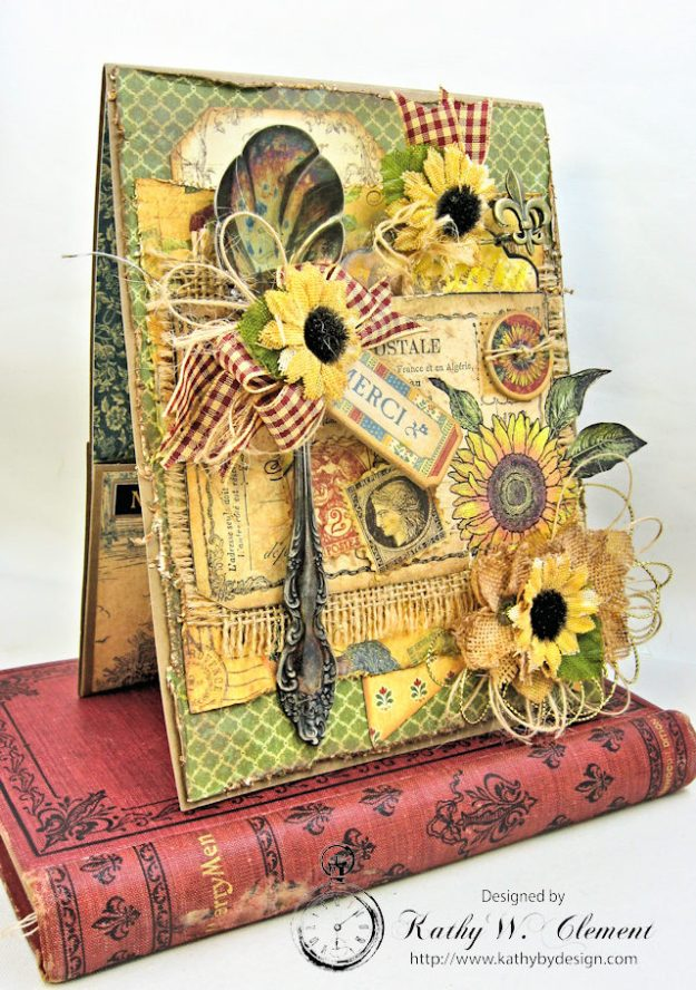 Spoonful of Gratitude Card French Country by Kathy Clement for Frilly and Funkie Something Old Challenge Product by Graphic 45 Photo 3