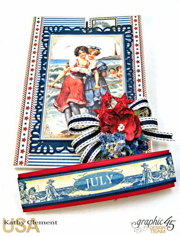 Bathing Beauties Double Gatefold Card Tutorial Place in Time by Kathy Clement Product by Graphic 45 Photo 2