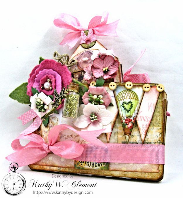 Fairy Happy Birthday Wishes Gift Card Wallet by Kathy Clement Photo 2