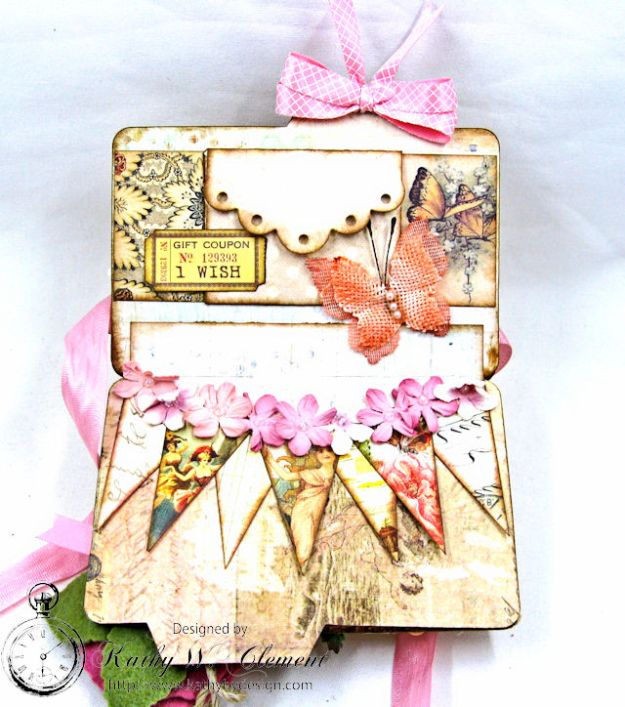 Fairy Happy Birthday Wishes Gift Card Wallet by Kathy Clement Photo 3