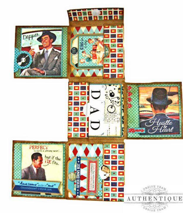 Dear Old Dad Father's Day Gift Wallet with Authentique Dapper Collection by Kathy Clement Photo 10