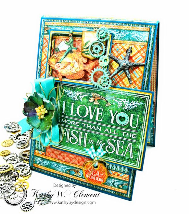 More Than All the Fish in the Sea Folio Voyage Beneath the Sea by Kathy Clement for Really Reasonable Ribbon Product by Graphic 45 Photo 3